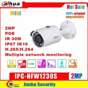 Image 1 - Dahua  IP camera 2mp  POE IPC HFW1230S H.264&H.265 full 1080p network camera  infrate 30m Multiple network monitoring P67, PoE