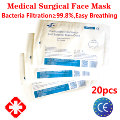 20pcs N95 Sterile Medical Protective Surgical Face Mask Medic Respirator Filter Earloop Head Bandage Breathing CE Certificate