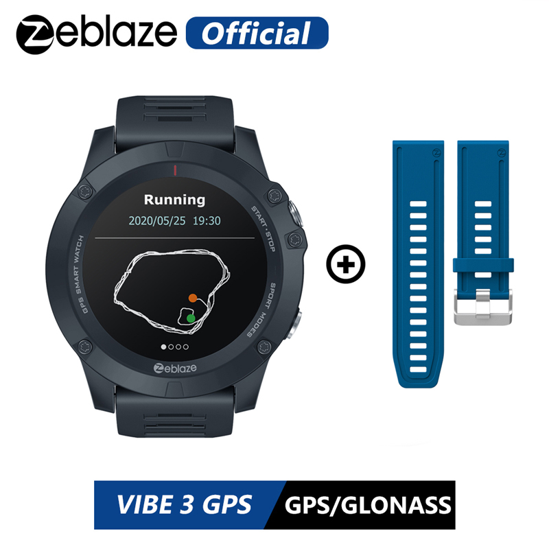 Горячие 2020 Zeblaze мульти спортивные Отслеживающие VIBE 3 GPS Смарт-часы с пульсом долгий срок службы батареи GPS спортивные часы для Android/IOS