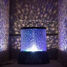 Colorful LED Night Light Projector Starry Sky Star Moon Children Kids Baby Sleep Romantic LED Projection Lamp Room Decor(China)