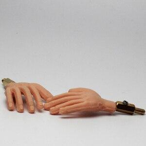 Image 3 - 1 زوج يد سيليكون مع سلك ألومنيوم من الداخل لحرية الحركة لدمية توقف الحركة