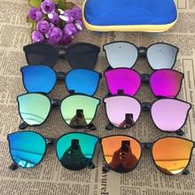 1pc niños lentes de sol ojo de gato gafas de sol cuadradas chico chica elegante gafas bebé estudiante ojo gafas para fiesta Uv400