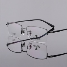 Width-140 Retro Pure Titanium Half Frame Men Eyeglasses Frames Eyewear Super Light Glasses With Myopia new
