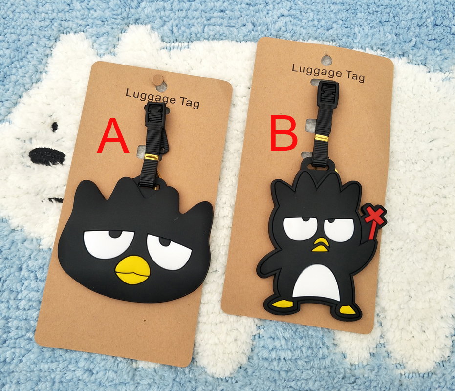 1pcs Black Penguin Anime Travel Brand Luggage Tag Suitcase ID Address Portable Tags Holder Baggage Label New