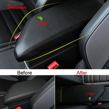 Tonlinker Interior Armrest Anti dirty Cover Stickers for Volkswagen Jetta MK7 2019 20 Car Styling 1PCS PU Leather Cover Stickers