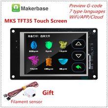 Impressora 3d display a cores completas montagem de atualização mks tft35 v1.0 tela sensível ao toque 3.5 polegadas unidade lcd tft 35 painel 3.5 monitor tft tft monitor
