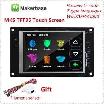 3d printer full color display upgrade assembly MKS TFT35 v1.0 touch screen 3.5 inches LCD unit TFT 35 panel 3.5'' monitor - discount item  44% OFF Office Electronics
