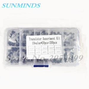 Image 1 - 200Pcs 10 Tipo di Transistor Assortimento Kit Transistor BC337 BC327 2N2222 2N2907 2N3904 2N3906 S8050 S8550 A1015 C1815 Kit Fai da Te