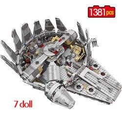 1381 Pcs Force Wekt Ster Set Wars Serie Compatibel Millennium 79211 Falcon Model Bouwstenen Speelgoed Voor Kinderen kids gift
