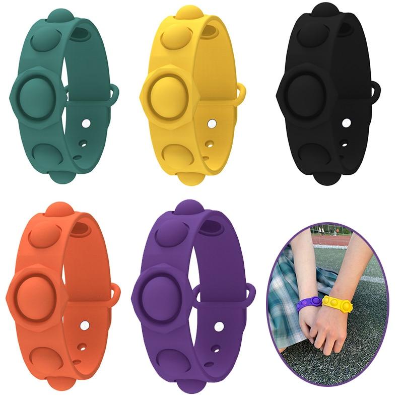 Auf Lager Neueste Pop Es Armband Einfache Dimple Zappeln Spielzeug Sensorischen Für Autismus Squishy Reliever Erwachsene Kid Lustige Anti-stress Spielzeug