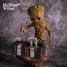 Groot 映画ベビー Groot ガーディアンの銀河アクションフィギュアヒーロー Groote 人形モデルおもちゃのデスクの装飾のギフト子供