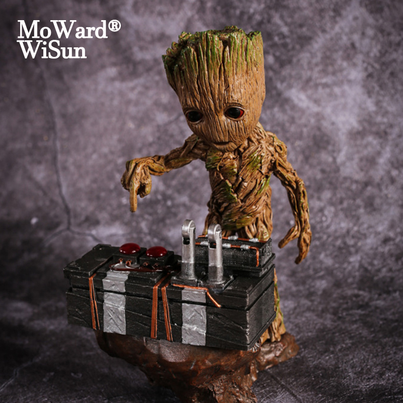 Groot Movie Baby Groot Guardian of The Galaxy Action Figures Heroes Groote Doll Model Toy Desk Decoration Gifts for Kid(China)