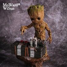 Groot film bebek Groot koruyucu Galaxy aksiyon figürleri kahramanlar Groote bebek modeli oyuncak masası dekorasyon hediyeler için