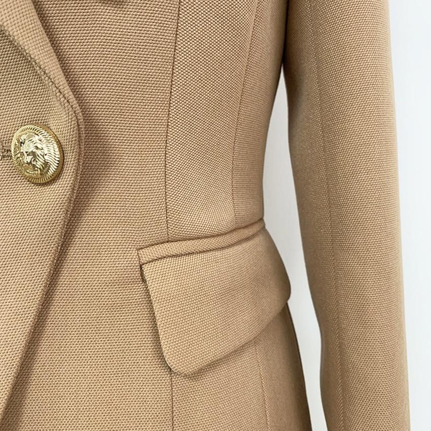 Image 5 - HIGH QUALITY New Fashion 2020 Baroque Designer Blazer Jacket  Womens Slim Fitting Metal Lion Button BlazerBlazers