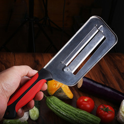 Krajalnica do warzyw podwójna 2 kromka ostrze nóż do krojenia rybia łuska Cleaner noże kapusta ogórek marchew krajalnica do cebuli obieraczka