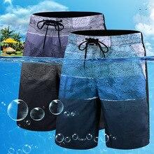 Быстросохнущая Мужская пляжная одежда размера плюс, купальный костюм для мужчин 2020, купальный костюм с принтом, летние пляжные купальные шт...