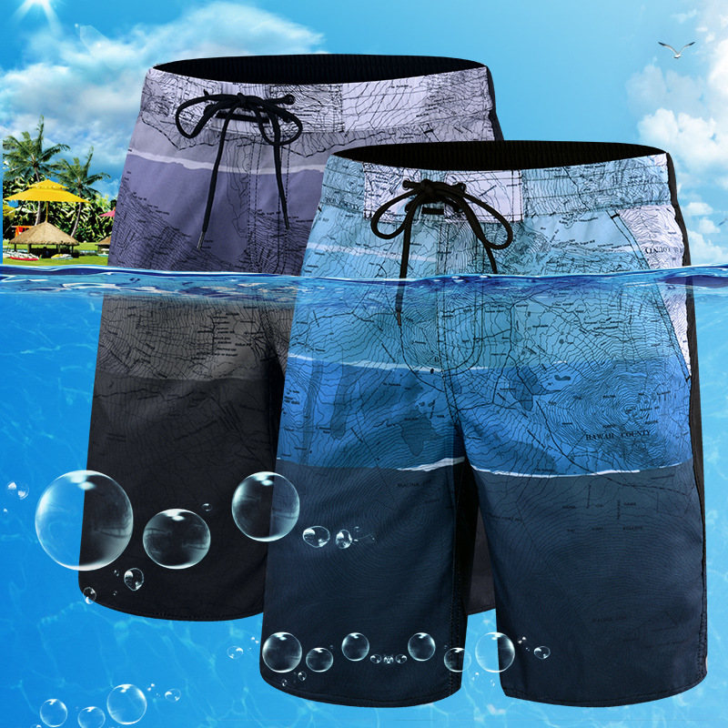 Quick-drying Mens Beachwear Plus Size Swimsuit Men 2020 Printing Bathing Suit Summer Beach Swim Pants Men's Swimwear Shorts L-6X