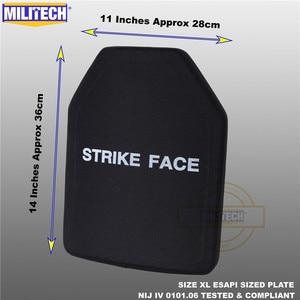 Image 4 - ESAPI Bulletproof Plate Ballistic Panel NIJ level 4 IV Alumina & PE Stand Alone Two PCS From Size S to XL Body Armor  Militech