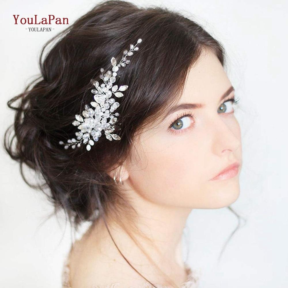 Youlapan模擬真珠の花嫁の結婚式天飾り髪の宝石クリスタルカチューシャ · ティアラ花嫁ヘアアクセサリーヘアクリップHP84