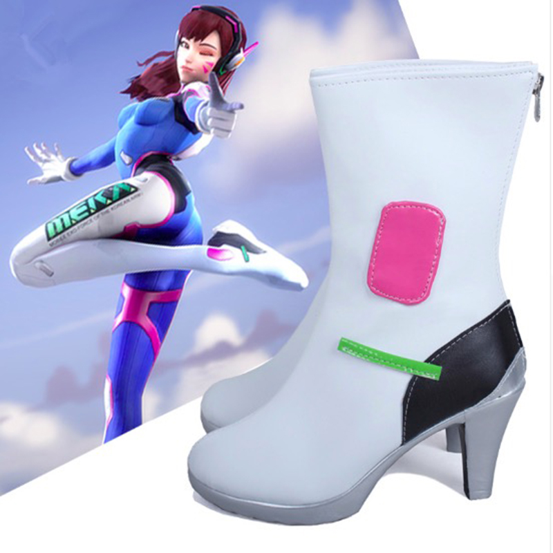Game OW Cosplay <font><b>Shoes</b></font> <font><b>Dva</b></font> Cosplay <font><b>Shoes</b></font> Boots Halloween Party Daily Leisure <font><b>Shoes</b></font> image