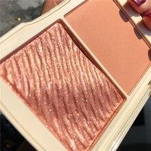 Novo marca maquiagem highlighter paleta profissional shimmer iluminador rosto contorno maquiagem highlighter