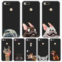 Gato perro Pug Linda funda de teléfono para Xiaomi Mi A1 A2 Lite 8 iPhone 5 5C 5S 5X 6 6X Plus, cubierta trasera de silicona para Xiaomi MiA1 MIA2 Mi8 caso