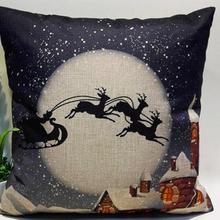 Fundas de almohada adornos navideños para el hogar Vintage Navidad carta almohada para sofá cama Decoración
