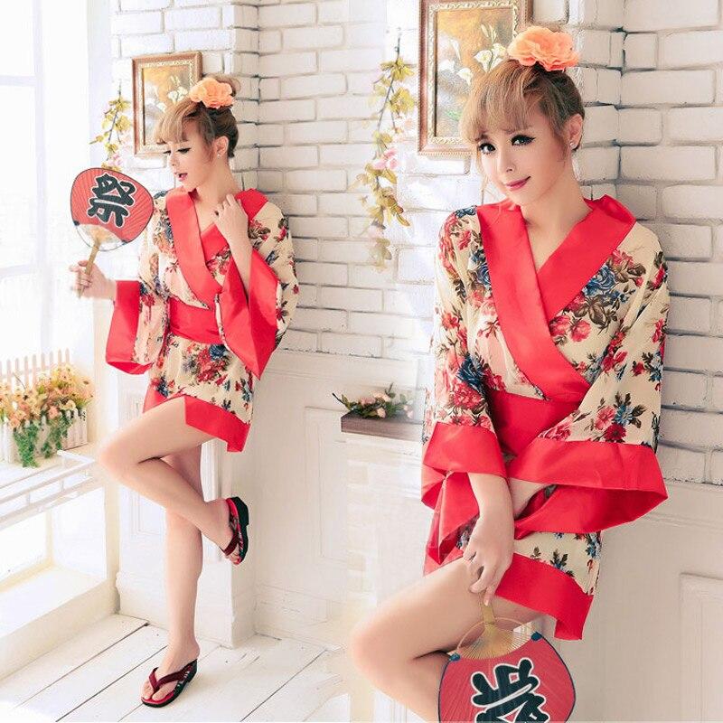 Японское кимоно тонкая секция японское кимоно костюм косплей одежда сексуальное женское белье девушки нижнее белье женское нижнее белье