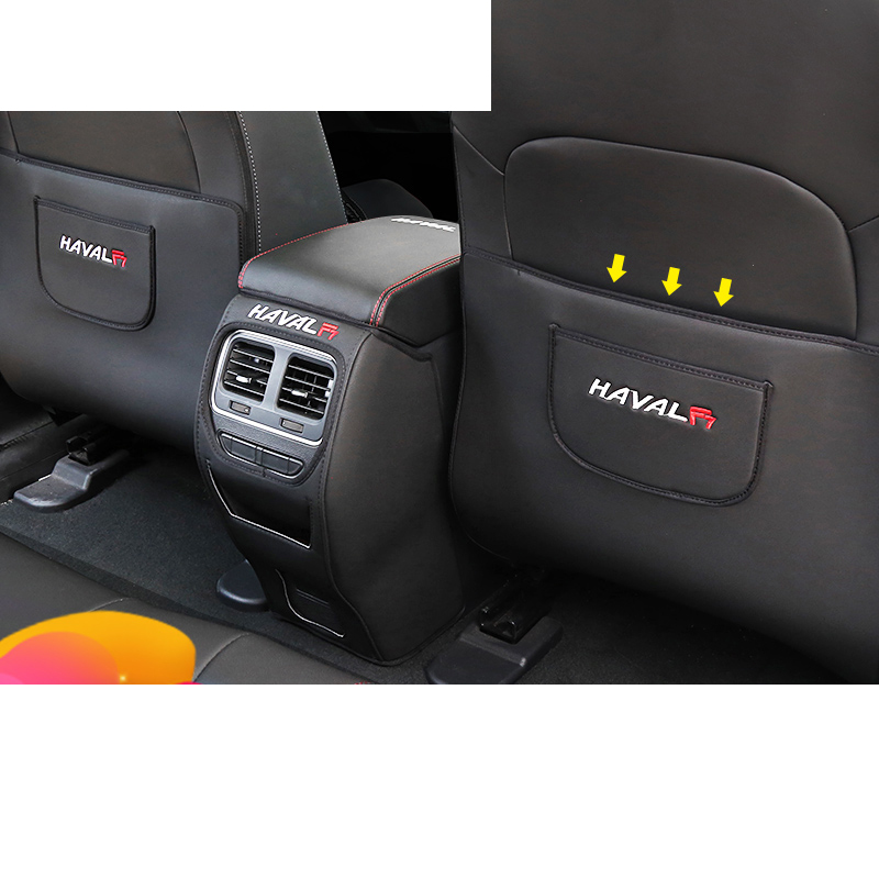 Lsrtw2017 Leather Car Seat Armrest Inner Door Anti-kick Mat For Haval F7 F7x Protector Interior Mouldings Accessories