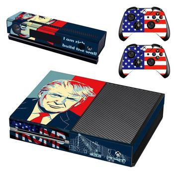 Donald Trump Skin Sticker Decal Cover For Xbox One Console and Kinect and 2 Controllers For Xbox One Skin Sticker Vinyl 1