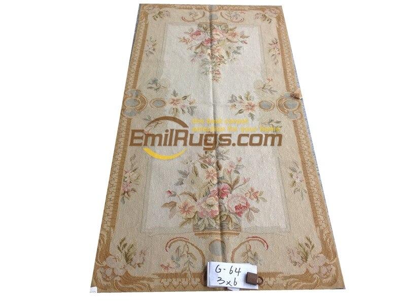 Broderie main broderie noir Rose porte un salon canapé chambre européenne Pure manuel laine tapis Padg64gc8neeyg7