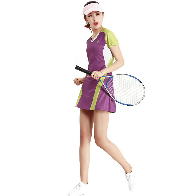 Summer Women Sports Dresses Tennis Badminton Quick Dry Breathable Culottes Tennis Sportswear Fitness Clothing