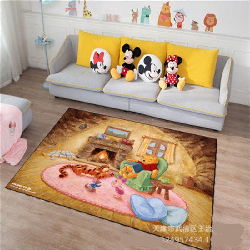 Disney Cartoon Winnie Carpet Mat Kids Boys Girls Game Mat Bedroom Kitchen Carpet Indoor Bathroom Mat Gift Baby Activity Gym | Happy Baby Mama