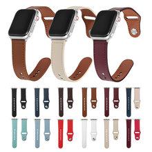 Pulseira de relógio de couro genuíno para apple watch 44mm 42mm 40mm 38mm cinta para iwatch banda série se 6 5 4 3 2 1 pulseira de pulso banda