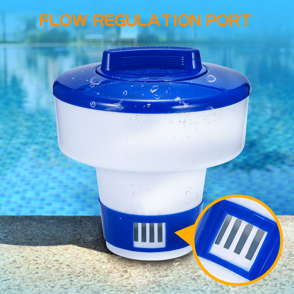 Floating Chlorine Dispenser Bromine Chlorine Dispenser for Pool Chemical Floater Dispenser for Chlorine Tablets up to 1.8 for Swimming Pool Bathtub Spa Aquarium Water Park