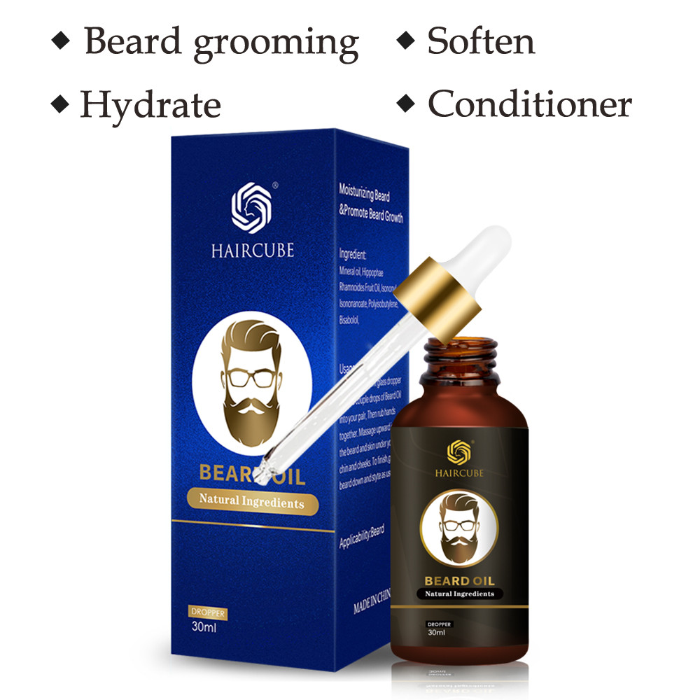 100% Natural Organic Beard Growth Oil For Men Beard Grooming Treatment Beard Wax Balm Essential Oil Leave-In Beard Care Product