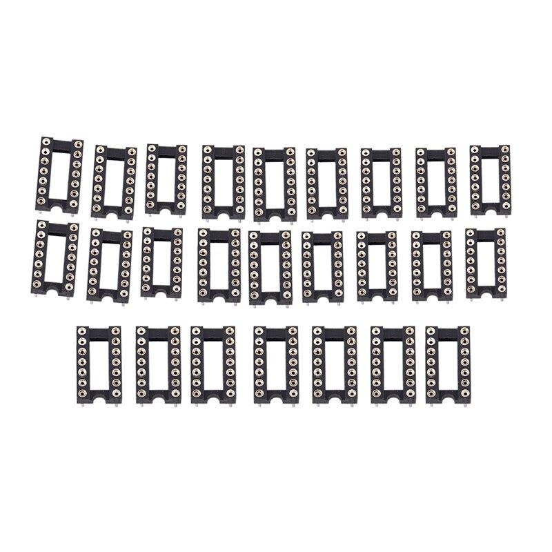 "10x 14 Pin  IC Socket PCB  DIL DIP 14 0.3/"""