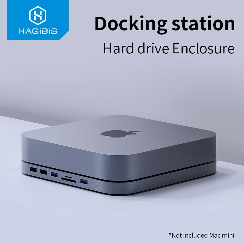 Hagibis USB-C Hub With SATA Hard Drive Enclosure USB 3.0 Hub For  Mac Mini MacBook Pro Type-C SSD HDD Case SD/TF Card Reader