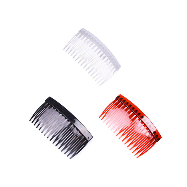 16 Teeth Professional Hair Side  Combs Hairdressing Hair Brush Antistatic Multicolor Salon Hair Care Styling Tool