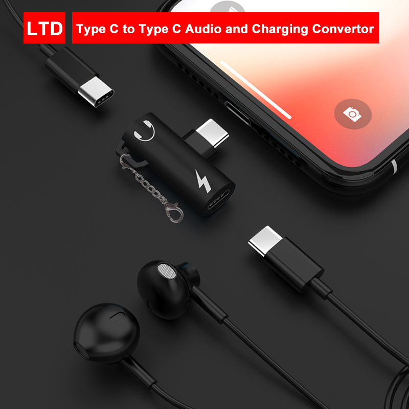 2 In 1 Type-C To Audio And Charging Splitter Convertor For Huawei Nova 5/P20/P20 Pro/P30 Pro/Mate 10 Pro/Mate 20X/Mate 20 Pro
