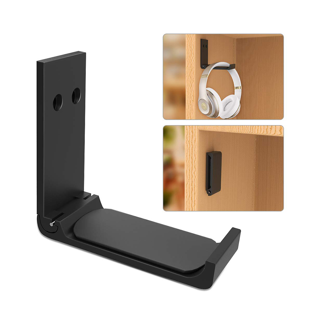 Durable Folding Universal Headset Headphone Hanger Hook Holder Under Desk Mount Stand Aluminum Alloy for Home Studio