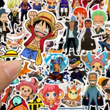 50Pcs/Lot Stickers Muraux Pack Sticker Flakes Scrapbooking One Piece Monkey D. Luffy Stationery TZ071G