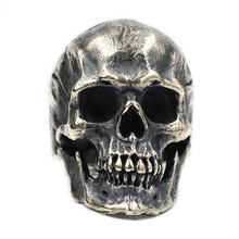 Мужское кольцо с черепом в стиле ретро хип хоп