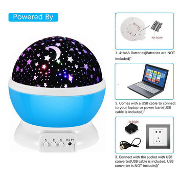 LED birthday party baby sleep romantic USB night light projector rotating starry sky starry sky world master rotating children colorful starry sky projector night light rotation starry moon night lamp usb charging for birthday gift romantic baby children