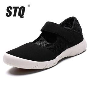 Image 2 - STQ Zapatos planos de plataforma para Mujer, zapatillas informales de malla transpirable, Zapatos náuticos, Señora, para otoño, 2020