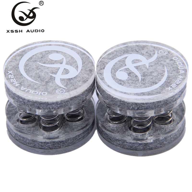 XSSH 4pcs One Gift Box  Solid Steel GJ7  Audiophile Shock Spikes Spring Damping Pad HIFI Audio Stand Feet Speaker Spike