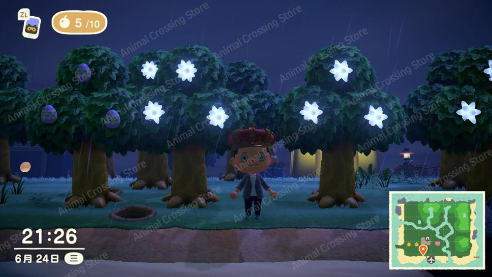 Animal Crossing New Horizons Item for Nintendo Switch Animal Crossing Dream Island Large star fragment tree Special trees Island