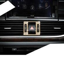 Lsrtw2017 Zinc Alloy Crystal Diamond Car Central Control Warnin Glight Buttun Trims for Audi A6 Q5 A4 A5 Accessories
