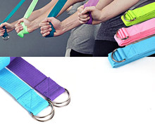 Access Yoga Strap Stretch Bands with Adjustable D-Ring Buckle Yoga Stretching Pilates Physical Therapy Fitness Gym Workouts Hold Poses offer