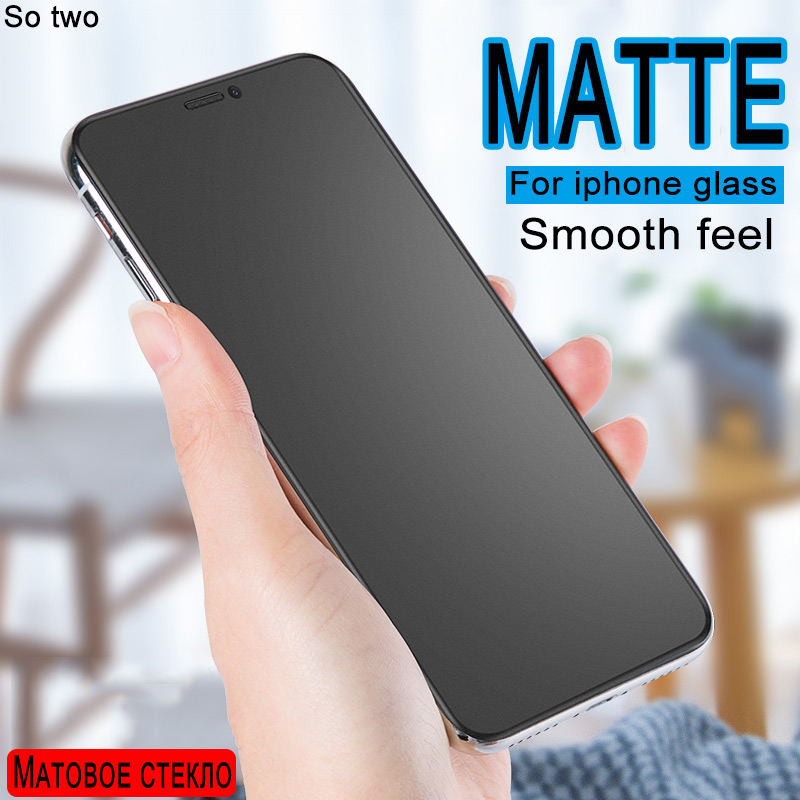 Screen Protector Frosted Matte Glass On For Iphone X XR XS 11 PRO MAX Tempered Glass For Iphone 7 8 6 6S Plus Protector Glass